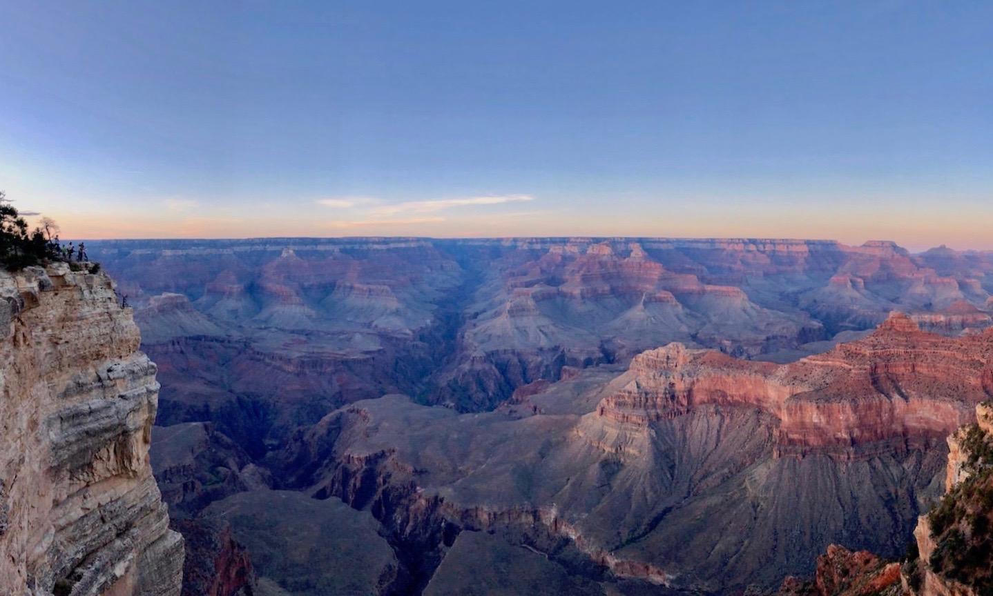 Grand Canyon South Rim Sunset Panorama
