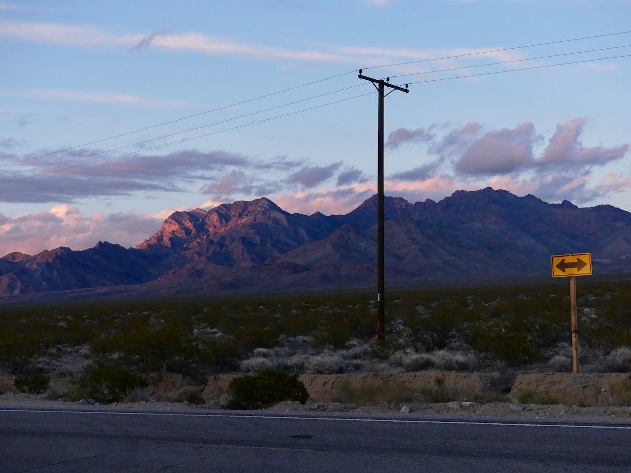 Mojave Desert Street Sign