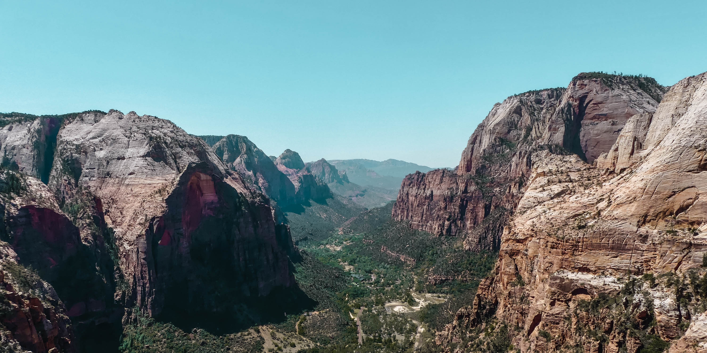 Zion Nationalpark Angels Landing Valley Panorama View