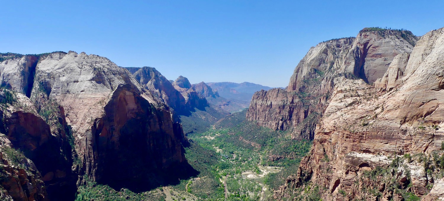 Zion National Park Angels Landing Peak Overview