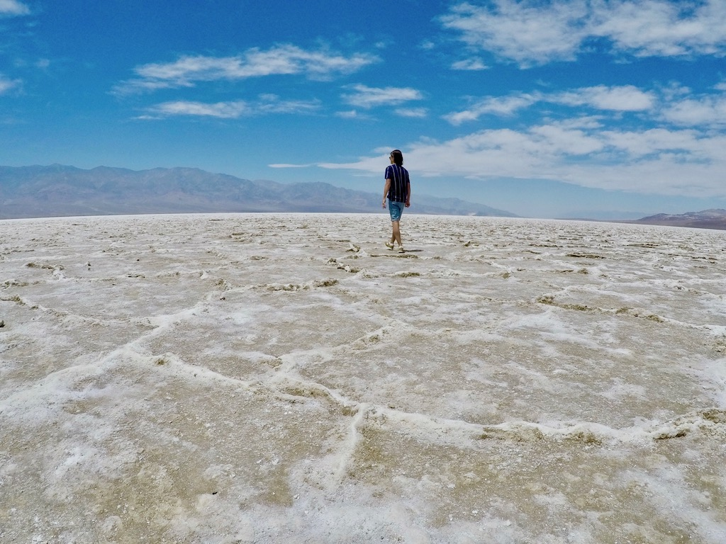 Badwater basin salt crust