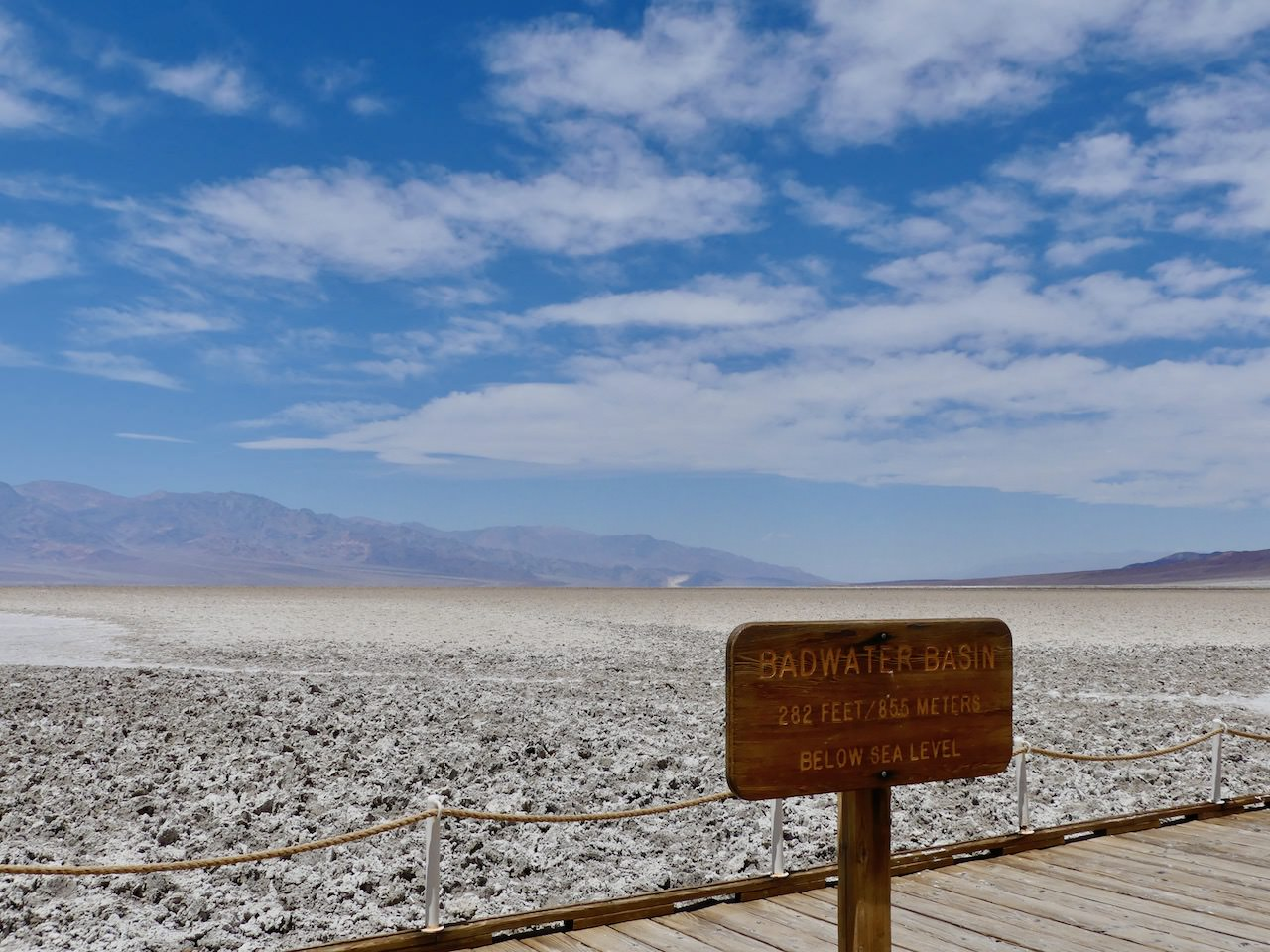 Death Valley Badwater Basin Sign