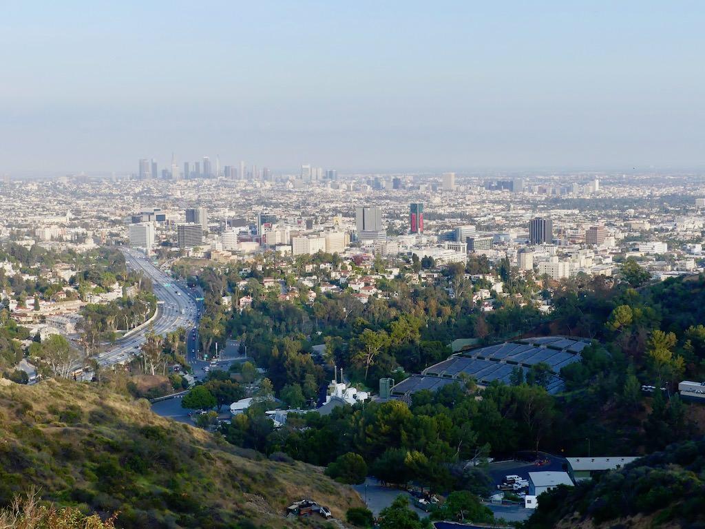Los Angeles Mulholland Drive Panorama
