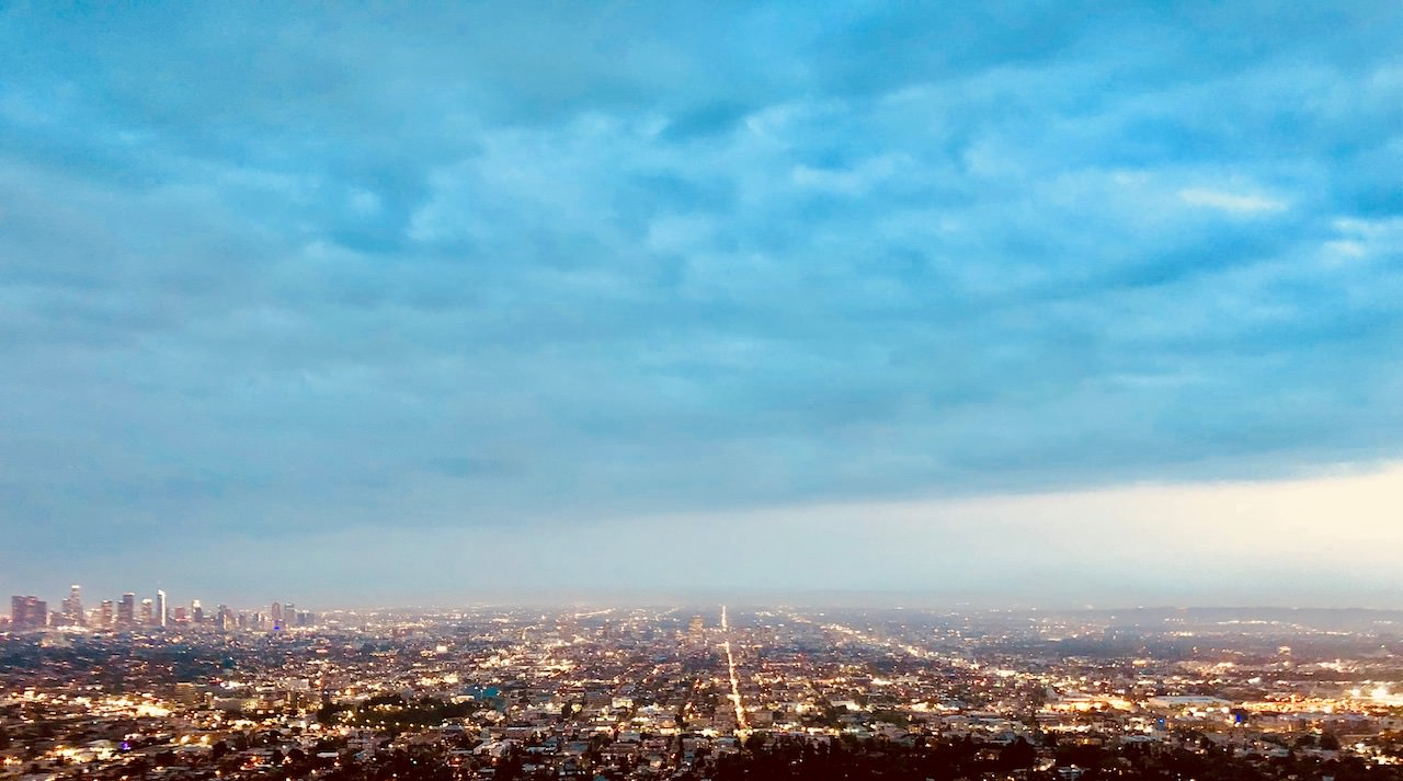 Los Angeles Panorama Sunset Griffith Observatory