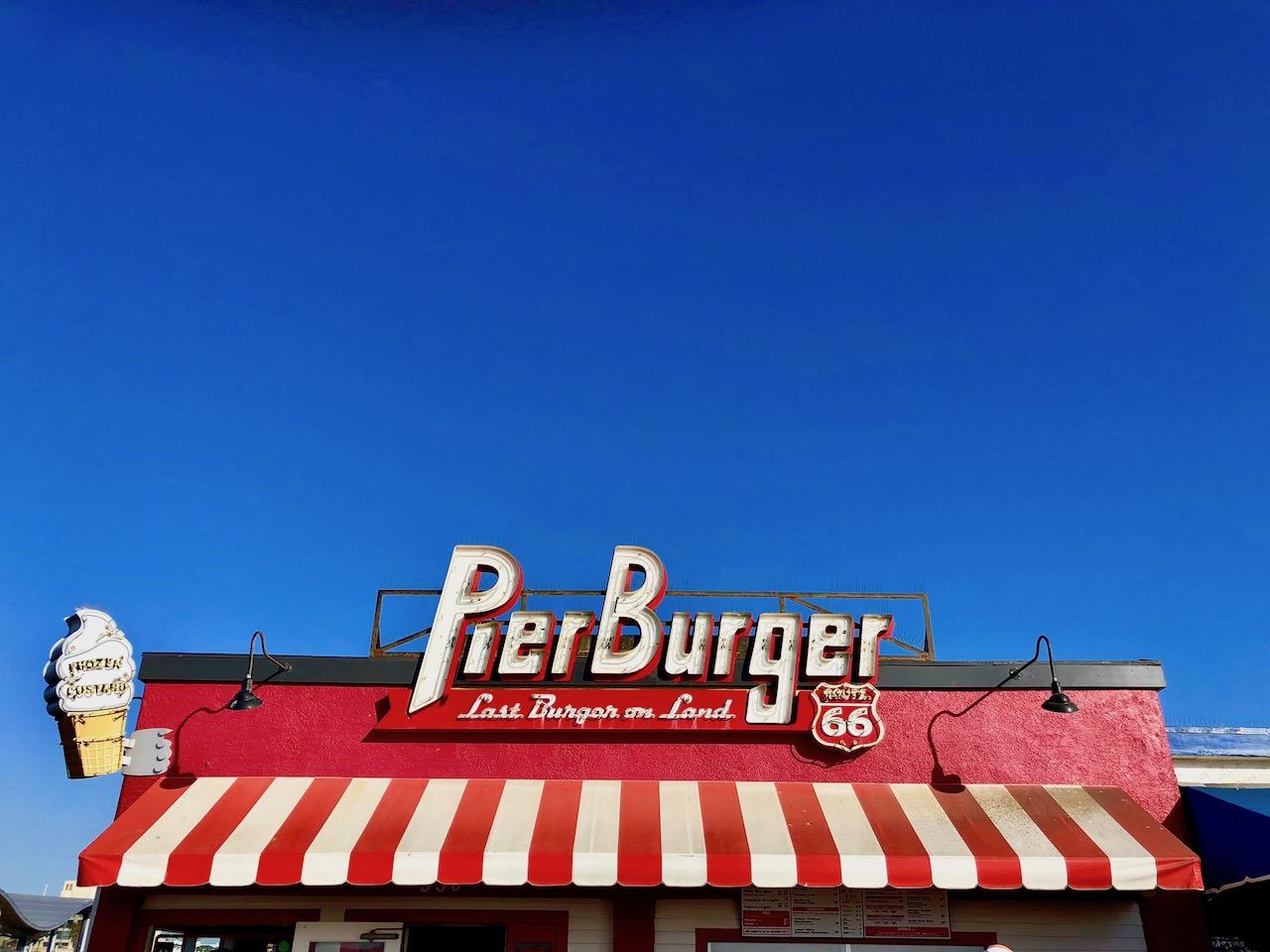 Los Angeles Santa Monica Pier Burger