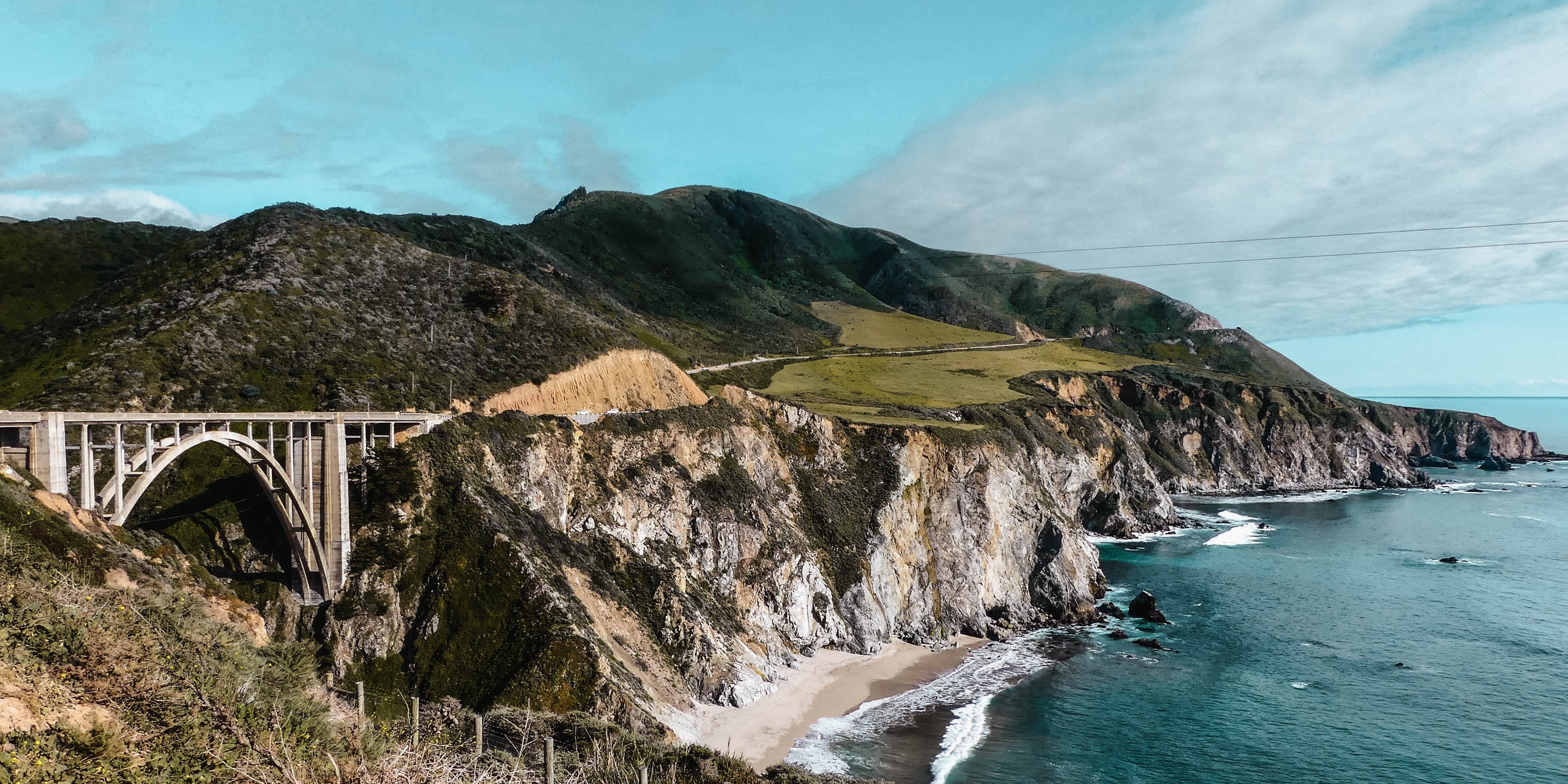 Pacific Coast Highway Big Sur Bixby Bridge Panorama View
