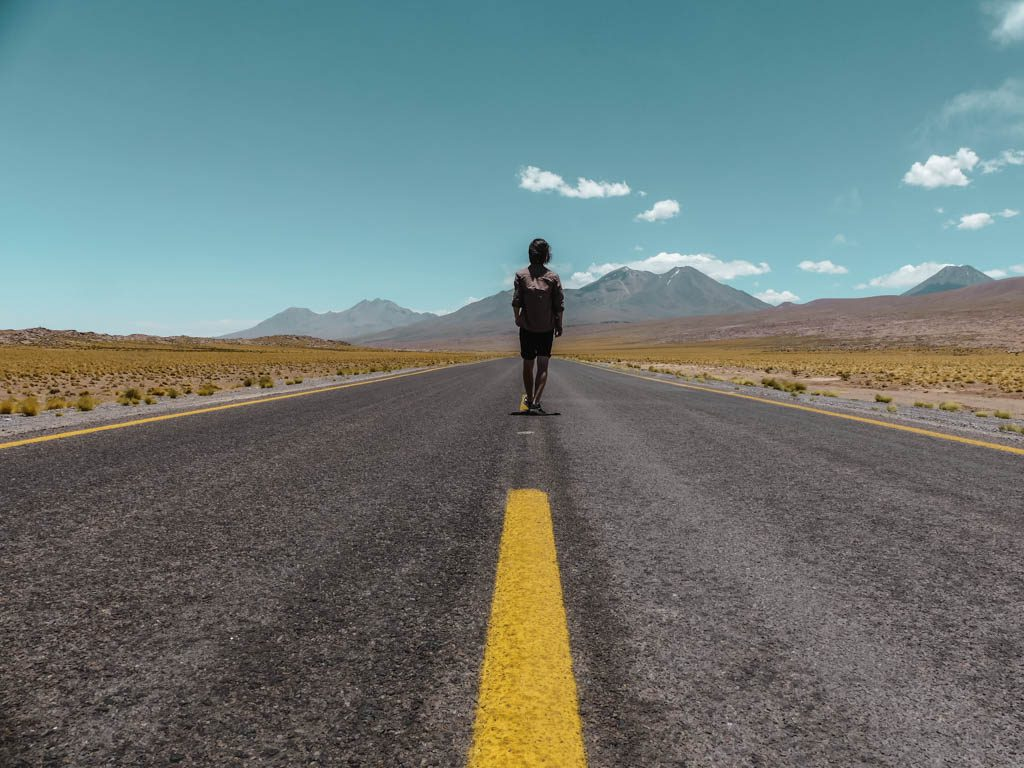 Atacama Wüste Endlose Straße