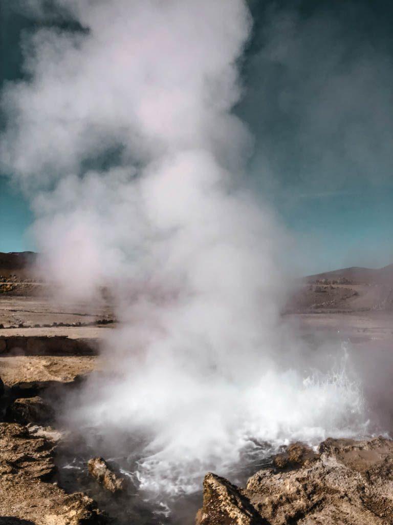 Atacama Wüste Geysire El Tatio Fontäne