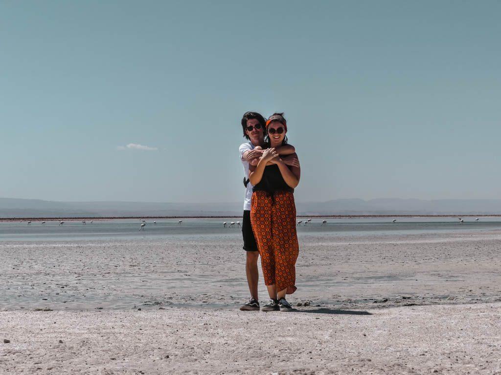 Atacama Wüste Laguna Chaxa Päarchen