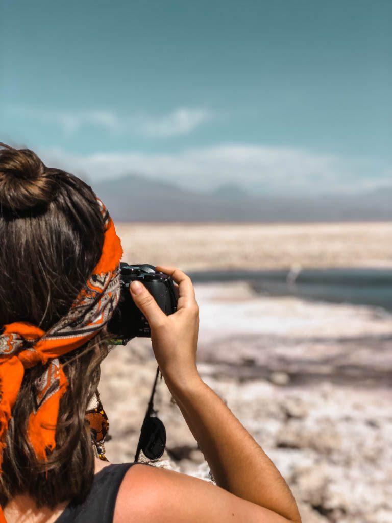 Atacama Wüste Laguna Chaxa Porträt