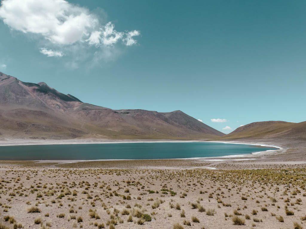 Atacama Wüste Lagunas Miscanti und Miniques Berglagune