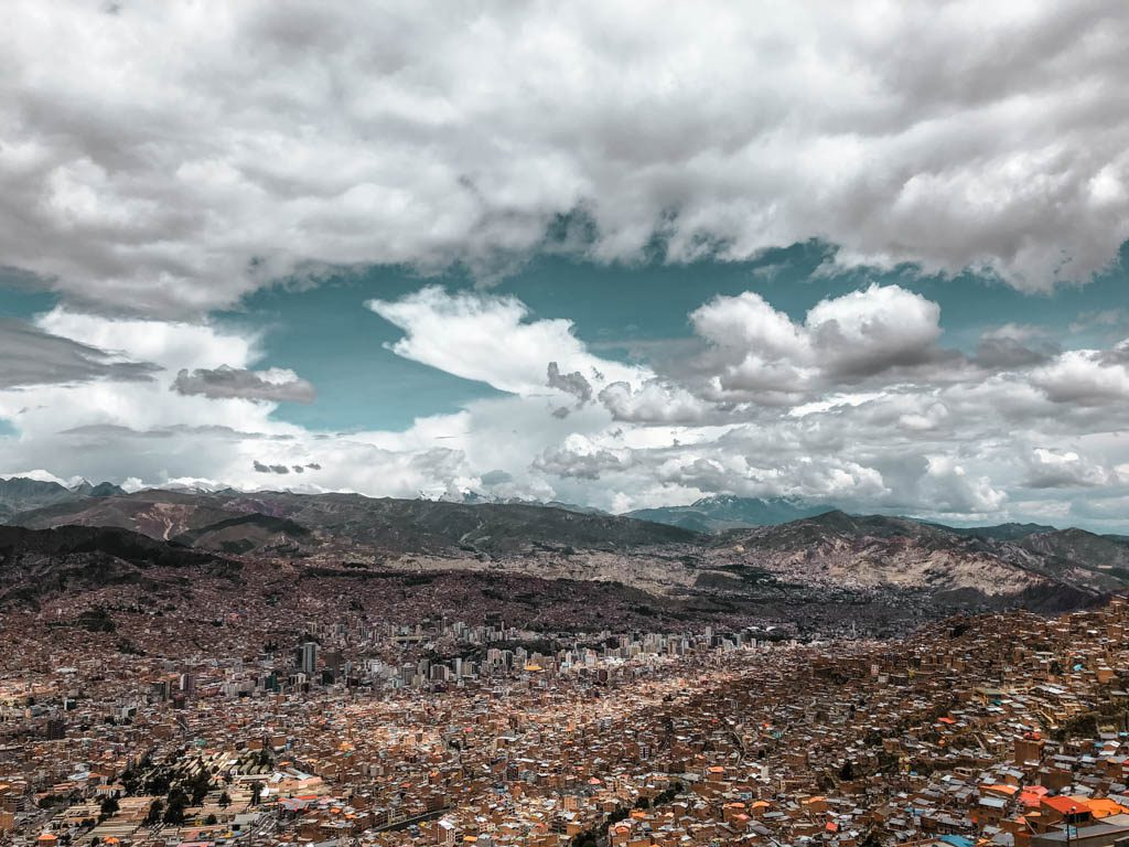 La Paz Bolivia El Alto View City