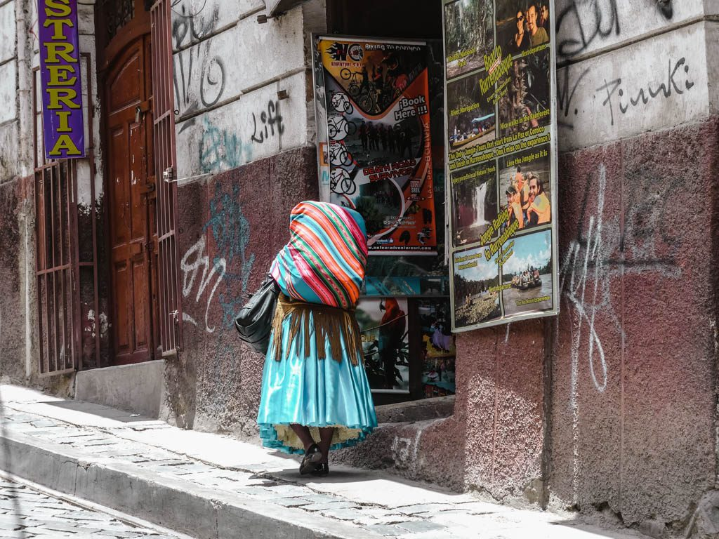 La Paz Bolivia traditional woman
