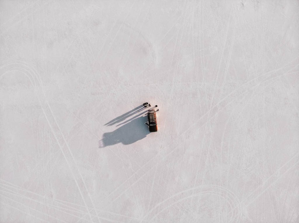 Salar de Uyuni Salt desert drone shot